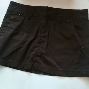 Express Brown Mini Skirt Size 6